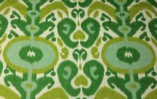 """BRAEMORE BIG & BOLD GRASS GREEN IKAT LINEN MULTIUSE FABRIC BY THE YARD 54""""W"""