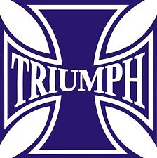 Triumph Iron Cross Helmet/Tank Decal/Sticker!