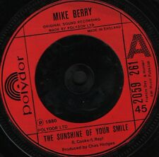 "MIKE BERRY the sunshine of your smile is/i'm as old as paul mccartney 7"" WS EX/"