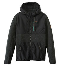 NWT 2015 MENS FLEECE BILLABONG TODOS JACKET $125 Black Stealth DWR coating wind