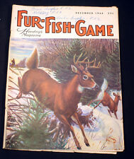 Vintage Fur Fish Game Magazine December 1964 Much Loved Bobwhite Bluegill Trade