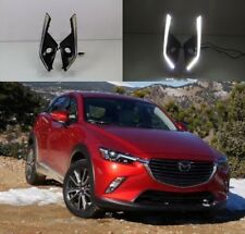 For Mazda CX-3 2016-2017 2x White LED Daytime Day Fog Lights DRL Run lamp
