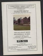 'The Old Half Moon'  Heathfield, Sussex. 1971  Auction sale property house bd.7