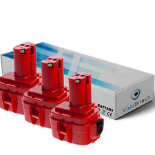 Lot de 3 batteries 12V 3000mAh pour MAKITA ML121 - Société Française -