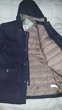 Men's LL Bean Allagash Down Coat Parka size Large TALL Navy MSRP $249-