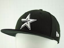 NEW ERA 59FIFTY HOUSTON ASTROS BLACK MLB Baseball Fitted Cap Hat 6 7/8