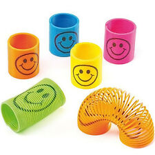 12 Slinky Smiley Mini Springs Pinata Party Bag Fillers Wedding Childen's Toy