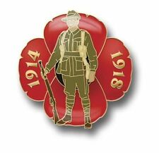 GREAT WAR DIGGER POPPY LAPEL PIN  - REMEMBERANCE DAY NOV 11th