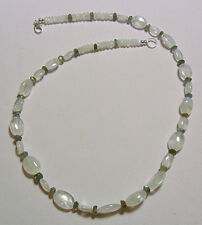 "19"" necklace, Moonstone + Labradorite beads"
