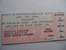 LED ZEPPELIN Original 1977 **NM** CONCERT TICKET STUB - Chicago Stadium