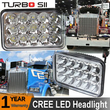 2X 4X6'' LED Headlight For Peterbilt 389 Freightliner Western Star semi Volvo