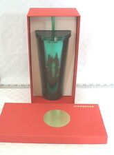 NEW in BOX Starbucks Cold Cup Tumbler - Green Electroplate - 24 oz.