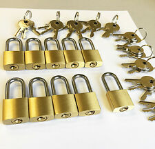 LOT of 10pcs KEY ALIKE small padlocks, LONG shackle!