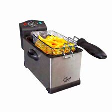 NEW QUEST PROFESSIONAL 3L LITRE STAINLESS STEEL DEEP FAT CHIP FRYER KITCHEN