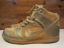 2004 Nike Dunk High SB Lucky 7 Gold Green size 13