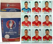 PANINI EURO FRANCE 2016 - SPAIN 9 UPDATE UPDATE STICKER + UPDATE SET 84 STICKERS