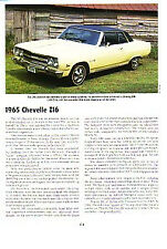 1965 Chevelle SS 396 Z16 Article - Must See !!