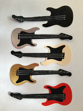 5 DIE-CUT ELECTRIC GUITAR CARD MAKING SCRAPBOOKING CRAFT EMBELLISHMENTS (set 2)