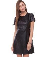 BNWT *KARDASHIAN KOLLECTION*@LIPSY 14 (UK)  BLACK PU LEATHER SHIFT DRESS, SOFT,