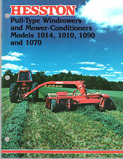 1977 HESSTON TRACTOR WINDROWERS 1014 1010 1090 1070 MOWER EQUIPMENT BROCHURE