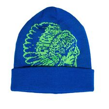 T.I Hustle Gang Indian Head Knit Cap Hat Royal/Lime Authentic Fast Shipping