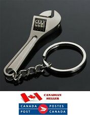 Stainless steel Wrench Spanner Key Chain Ring Adjustable Creative Tool Keyring