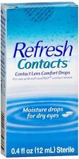 REFRESH Contacts Contact Lens Comfort Moisture Drops 0.40 oz (Pack of 4)