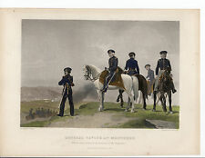 Hand Colored Steel Engraving ~ General Taylor at Monterey ~ Johnson, Fry (1858)