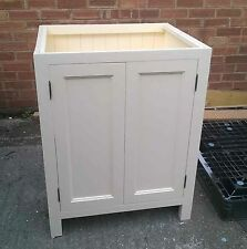 Solid Pine Kitchen Base Unit with 2 Doors