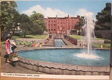 Irish Postcard GARDEN OF REMEMBRANCE Parnell Sq Dublin Ireland John Hinde 2/95