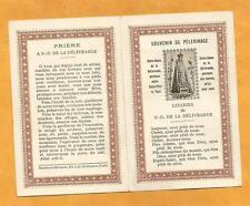 IMAGE PIEUSE  HOLY CARD LITANIES NOTRE DAME DE DOUVRES  LA DELIVRANDE SAUDINOS
