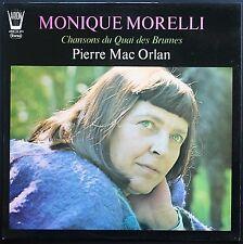 MONIQUE MORELLI 33T LP CHANSONS DU QUAI DES BRUMES Dédicace imprimée BRASSENS