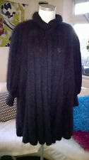 Vintage Mary Farrin Black Wool Swing Cardigan Lagenlook Freesize