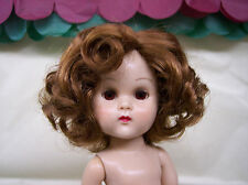 WIG FOR GINNY DOLL  SIDE-PART WITH CURLS GOLDEN AUBURN