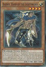 3 X YU-GI-OH: RAIDEN, HAND OF THE LIGHTSWORN - SR02-EN022 - 1st EDITION