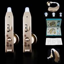 A Pair of Digital Hearing Aid Kit Behind the Ear BTE APLE Sound Voice Amplifier