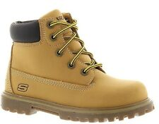 Skechers Childrens Wheat color Lace Work Boots Youth Size 2