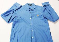 Ralph Lauren Shirt SMALL Women's Button Down Blue French Cuffs Crest S