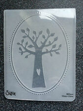 SIZZIX LARGE A2 EMBOSSING FOLDER FAMILY TREE HEART BORDER LEAVES FREE P&P