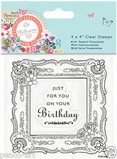 Docrafts Papermania Bellissima 2 clear stamp set Birthday Picture Frame stamps