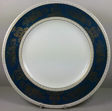 WEDGWOOD COLUMBIA BLUE AND GOLD R4509 DINNER PLATE 27.5CM (PERFECT)