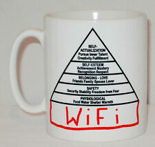 Modern Maslow Tiers Of Human Needs Mug Can Personalise Psychology Internet Wifi