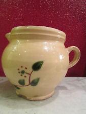 ancien pot pichet broc poterie savoie bugey decor floral