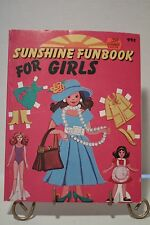 Sunhine Funbook for Girls Vintage 1983 Banner Press Coloring Book