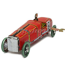 Vintage Wind Up Racing Race Car Model Clockwork Tin Toy Collectable Gift Red