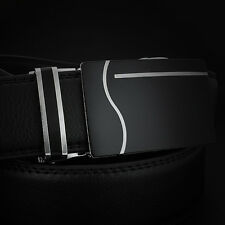 New Men Belts Waist Curve Leather Automatic Buckle Business Belt Waistband
