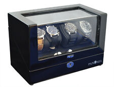 Pangaea Q360 Quad Four Automatic Watch Winder Cover Lock & Key 4 Japanese Motor