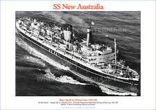 SS NEW AUSTRALIA SHAW SAVILL ALBION SHIP A3 POSTER PRINT PICTURE IMAGE PHOTO