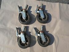 """Set of 4 HD Industrial Locking Scaffold Casters with 8"""" x 2"""" Caster Wheel"""