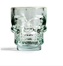 Skull Shot Glasses Set of 4 oversized 1.5 oz glass shooters.